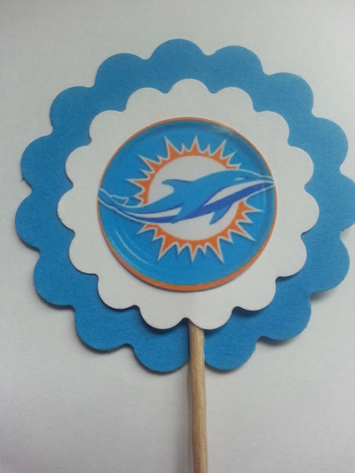 Miami Dolphins Sports Party Bottle Labels