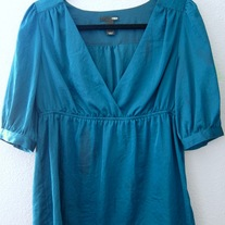 Teal H&M 3/4 Sleeve Top