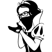 Snow White Nerd for iPad | Vinyl Decal Sticker