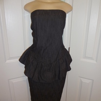 Plus Size Jean Tube Peplum Dress Size 16