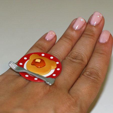 Kawaii Cute Japanese Miniature Food Ring Bear Shaped