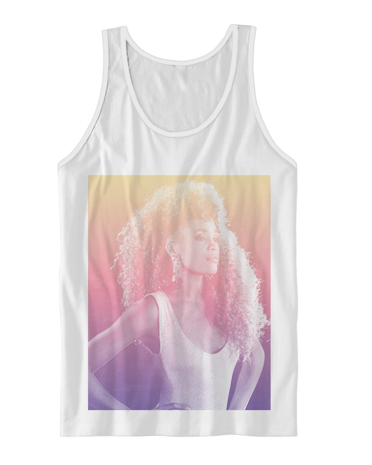 Young whitney houston tank top classic divas shirts for Cheap t shirt printing houston