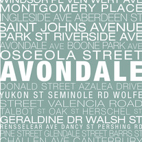 Avondale Neighborhood Print
