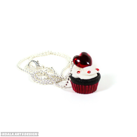 Cupcake Heart Necklace