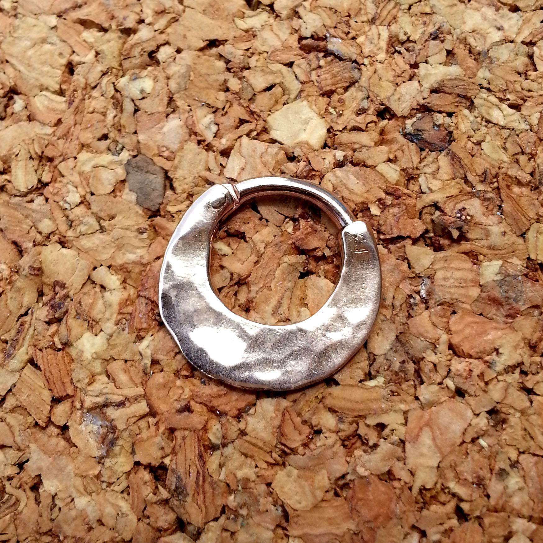 Born This Way Body Arts 16g Rose Gold Hammered Septum Ring