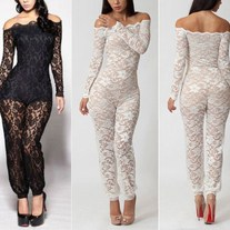 Sexy Bodycon Lace Jumpsuit