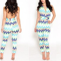 Vibrant thing halter jumpsuit