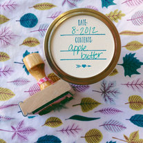 Canning Label Stamp with mini heart and arrow design