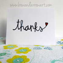 Simple Thanks (white card stock)