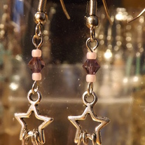 Stars and Crystal, Pink/Purple