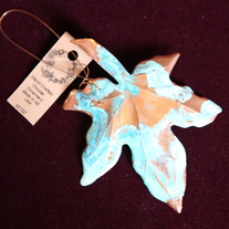 Copper Maple Leaf Ornament medium photo