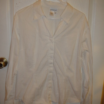 Coldwater Creek White Dress Shirt XL