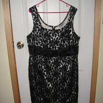 Another Thyme Black and Cream Lace Dress Sz 18W