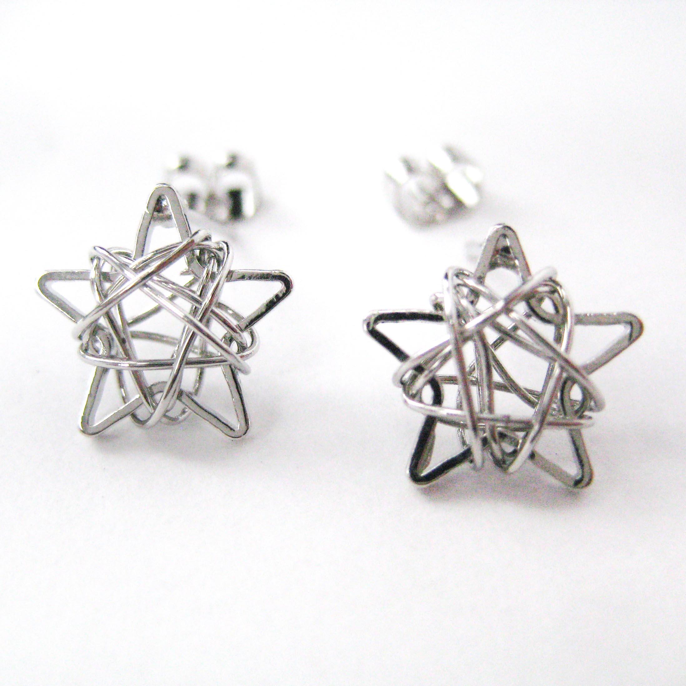 Dotoly Plus | Mini 3D Starry Night Star Stud Earrings in Silver ...