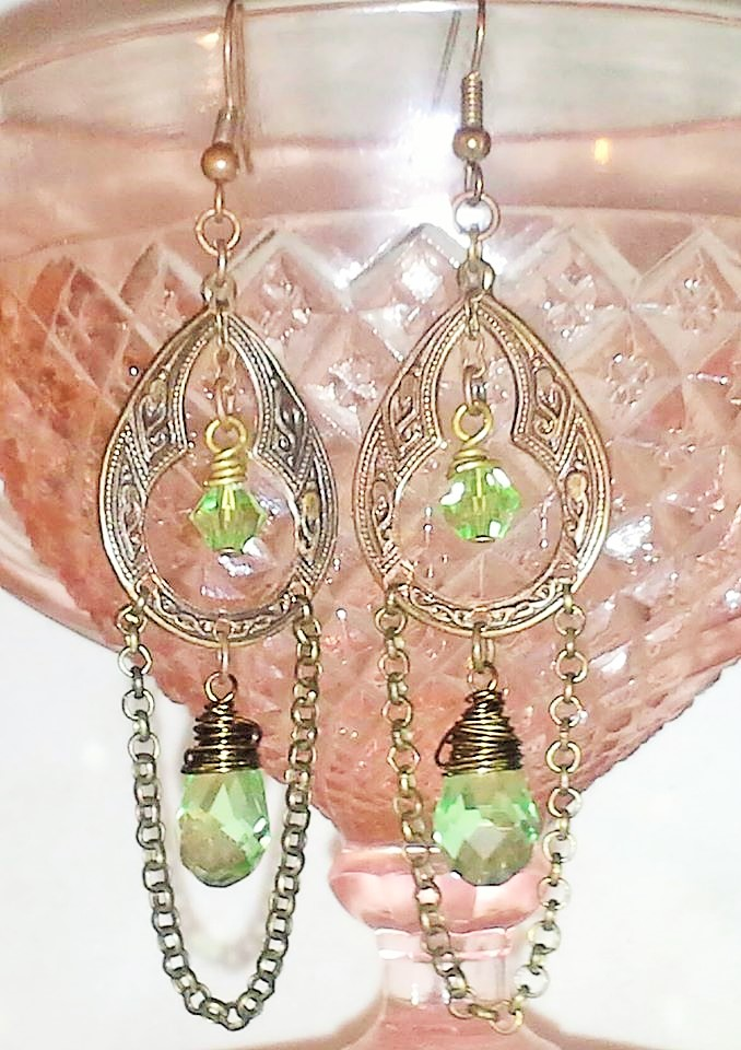 Vintaj chandelier earrings amelia 39 s southern expressions for Jewelry stores in slidell louisiana