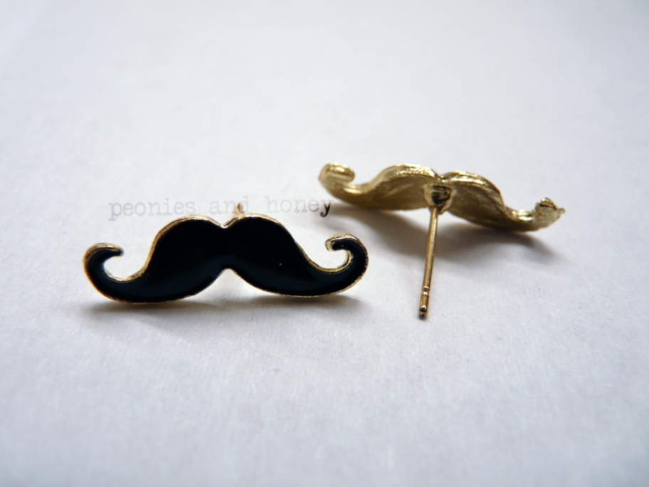 Peonies & Honey  Mustache Earrings  Online Store Powered. Choker Earrings. Silver 925 Earrings. Fur Pom Pom Earrings. Milk Earrings. Fabric Strip Earrings. Mindy Project Earrings. Item Earrings. New Type Earrings