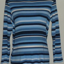 Blue/White Stripe Turtleneck-Take Nine Maternity Size Medium