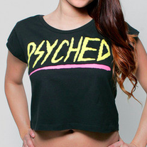 Glamour Kills Psyched Crop Top