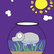 Hippo in a Fish Bowl