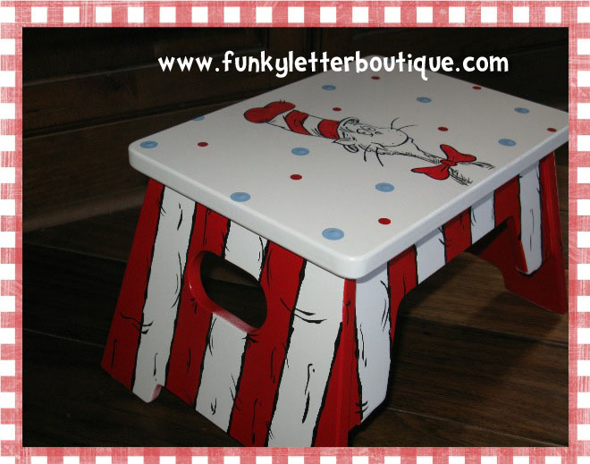 cat in the hat step stool thumbnail 1 - Childrens Step Stool