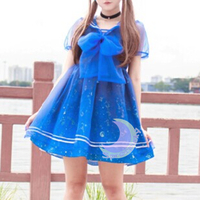 Dreamy Sailor Moon Organza Sailor Collar OP Dress SP141133 - Thumbnail 2