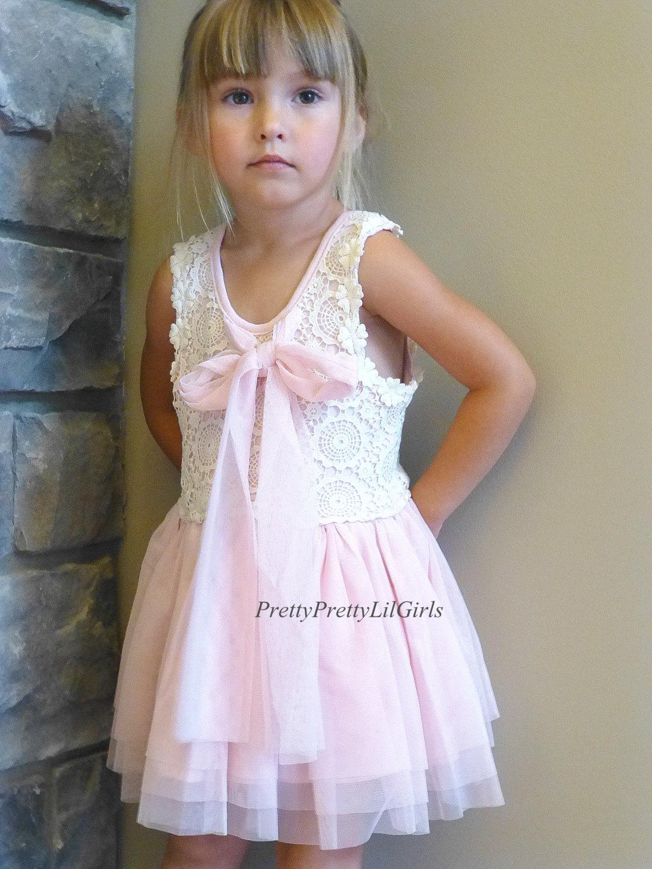 95a36a92b Flower Girl Dress, Baby Girl Dress, Girls Lace Dress, Little Girls Dress,