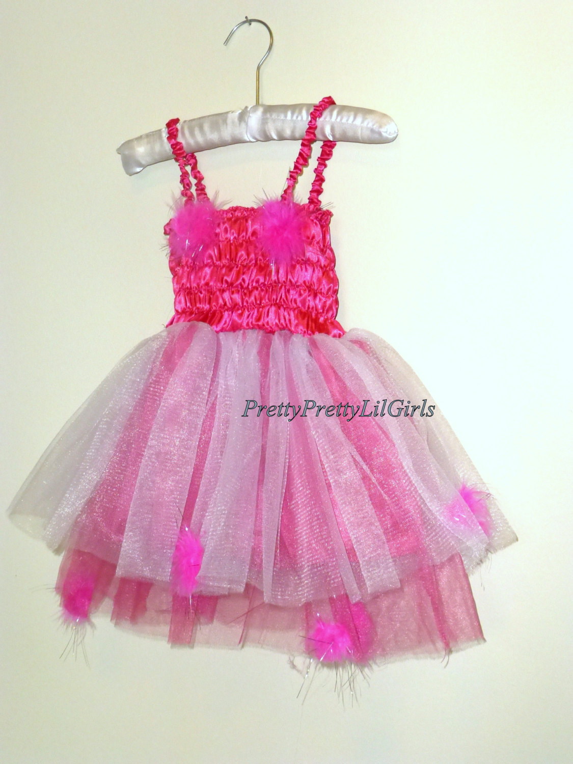 Pink Dress, Girls Birthday Dress, Girls Dress, Princess Dress, Tutu ...