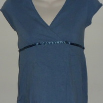 Blue Short Sleeve Top-Old Navy Maternity Size XS  CLTE1