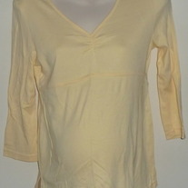 Yellow V Neck Top-Old Navy Maternity Size Small CLTE1