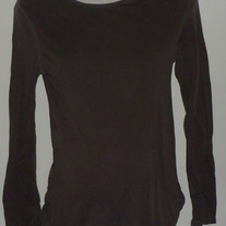 Brown Long Sleeve Shirt-Old Navy Maternity Size Small  CLTE1