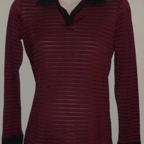 Burgundy/Black Long Sleeve Shirt-Duo Maternity Size Small