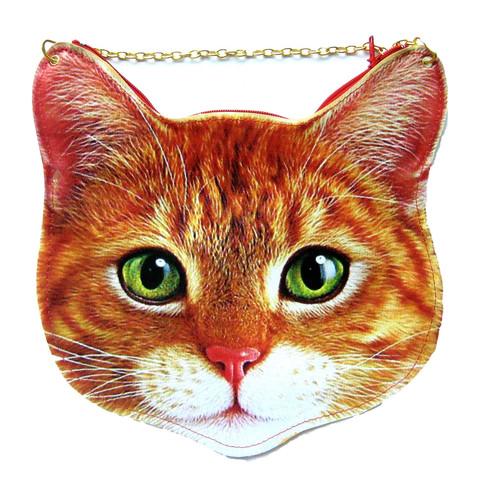 Kitty Cat Head Shaped Tabby Vinyl Animal Themed Cross