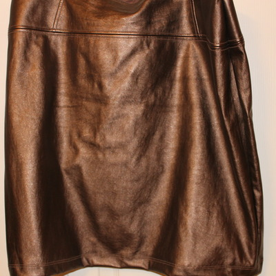 New york & co faux leather pencil skirt- size 18