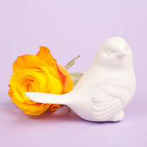 White Porcelain Bird Decoration