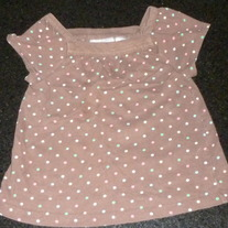 Brown Polka Dot Short Sleeve Shirt-Jumping Beans Size 3T