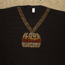 I Love Hamburgers Phat Gold Chain T-Shirt