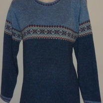 Light Blue/Navy Sweater-Motherhood Size Medium