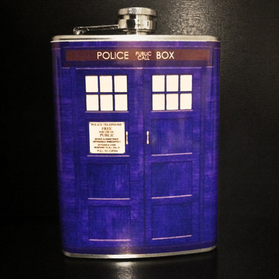 Police box 8 oz flask