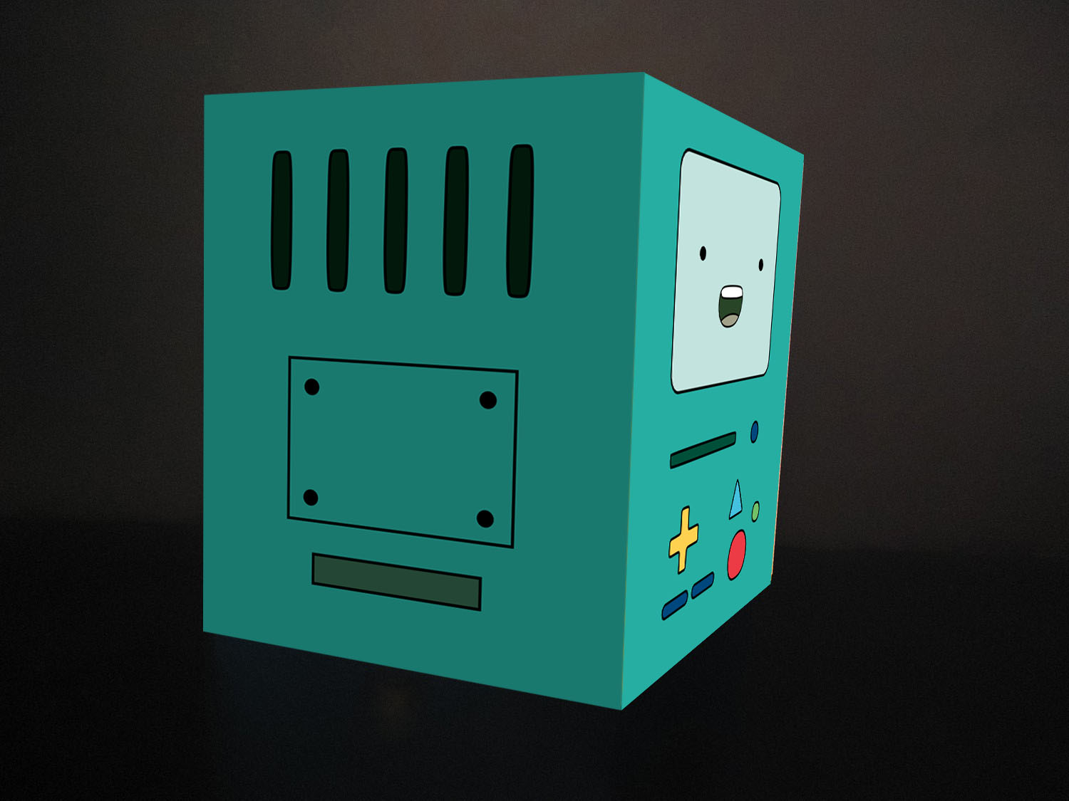 nyappy adventure time inspired bmo valentine s day card template