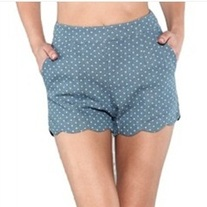 High Waisted Polka Dot Scallop Shorts