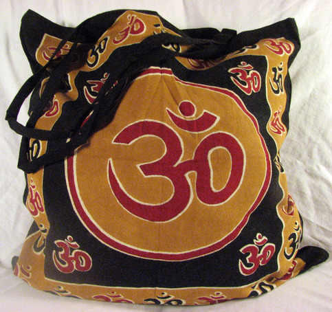 Om symbol eco friendly reusable tote yoga hippie hindu for Aum indian cuisine