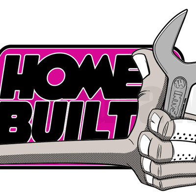 """home built"" die cut sticker set"