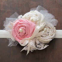 Vintage Pink and Neutrals headband