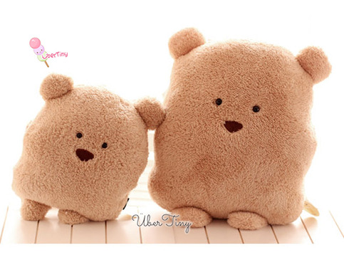 Squishy Bunny Pillow : Chocolate Pudding Bear Plush Pillow ? Uber Tiny ? Online Store Powered by Storenvy
