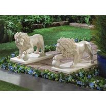 Guardian Lion Statue Pair