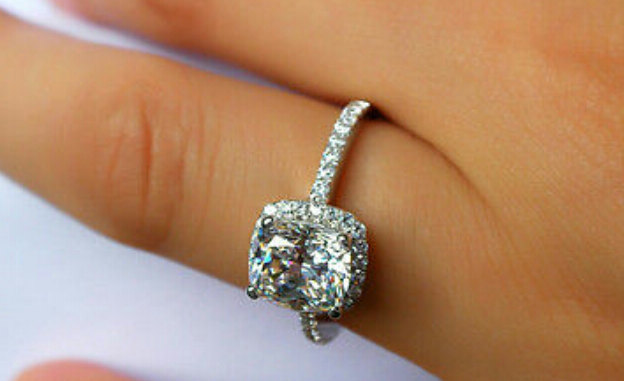 ring promise wedding carat diamond rings halo engagement
