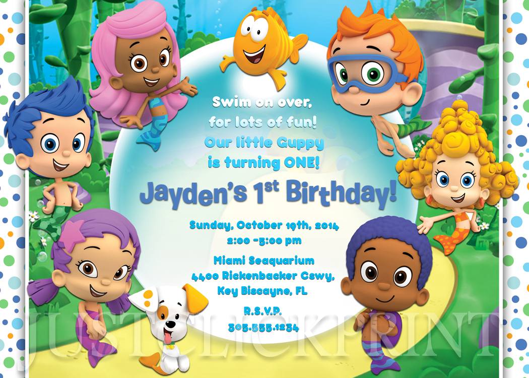 bubble guppies birthday invitation printable boy girl just click
