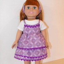 white shirt, purple camisole,purple skirt, headband 4 pc