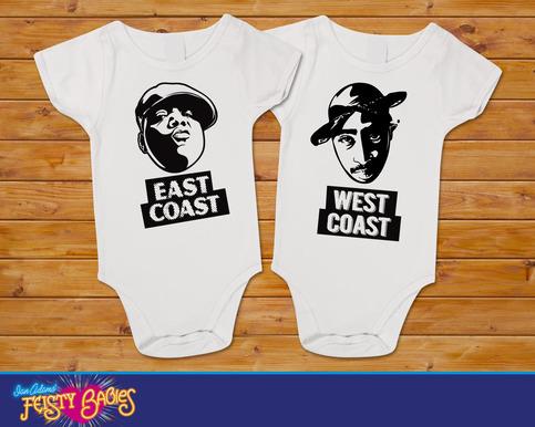 East Coast Vs West Coast Biggie Vs Tupac Twin Baby One