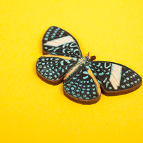 Laser Cut Starry Night Butterfly Brooch
